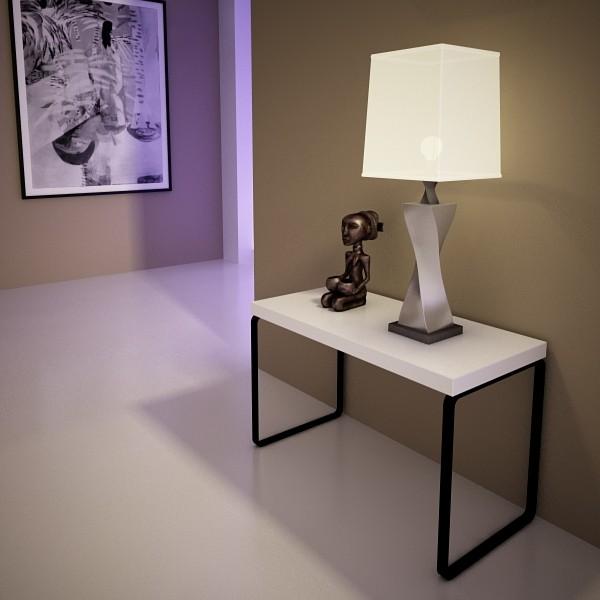 modern table lamp 07 silver 3d model 3ds max fbx obj 135440