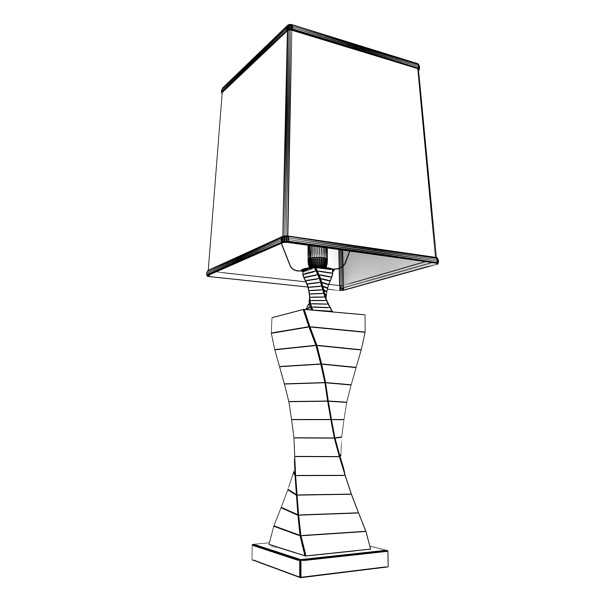 modern table lamp 07 silver 3d model 3ds max fbx obj 135441