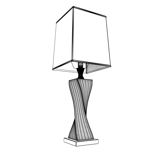 modern table lamp 07 silver 3d model 3ds max fbx obj 135442