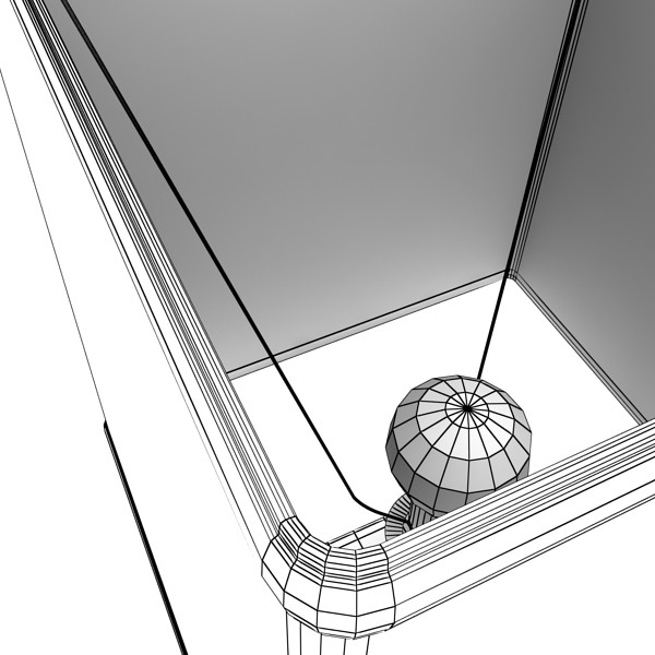modern table lamp 07 silver 3d model 3ds max fbx obj 135443