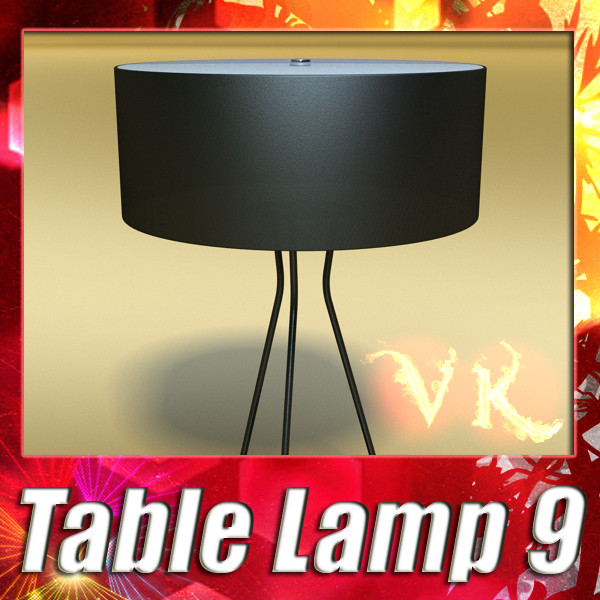 modern table lamp 09 tesla estiluz 3d model 3ds max fbx obj 135454