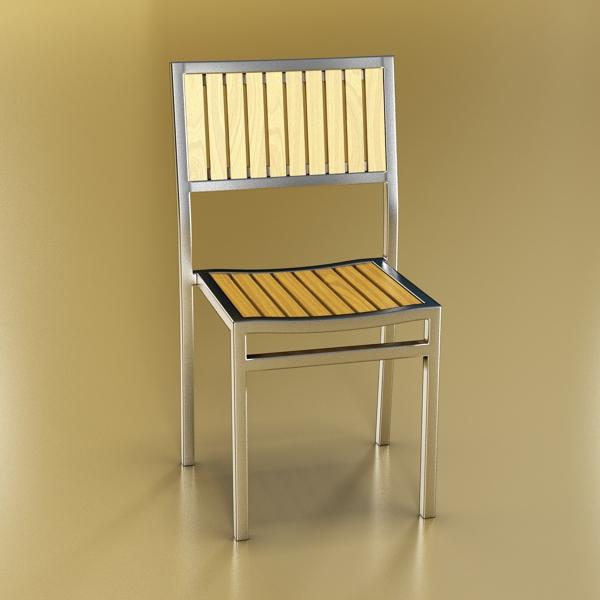 outdoor chair 3d model 3ds max fbx obj 148380