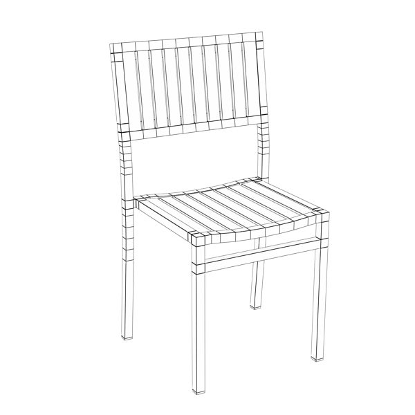 outdoor chair 3d model 3ds max fbx obj 148383