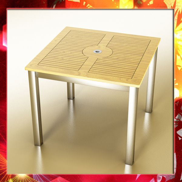 outdoor table 3d model 3ds max fbx obj 148398