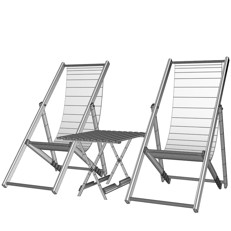 patio furniture 3d model obj 150374