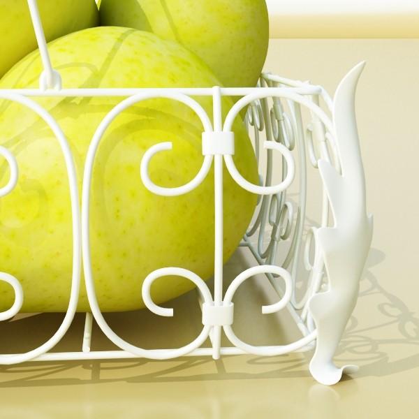 pears in metal basket 3d model max fbx obj 132892