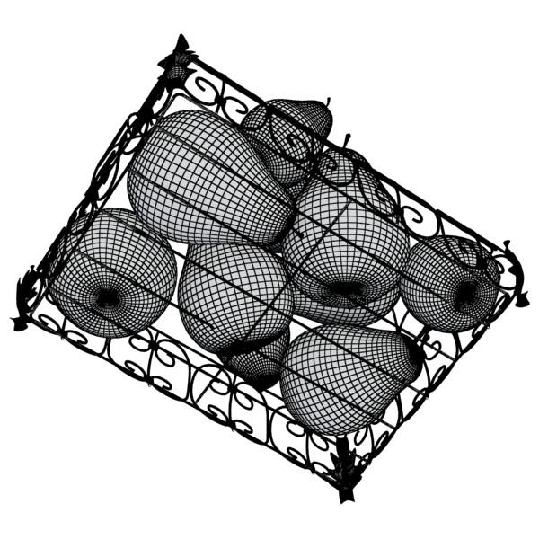 pears in metal basket 3d model max fbx obj 132895