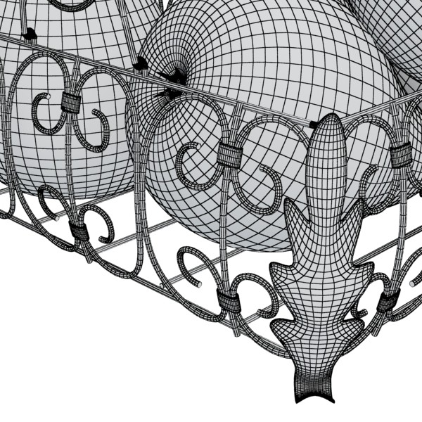 pears in metal basket 3d model max fbx obj 132896