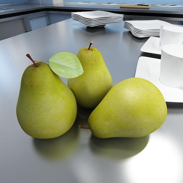 pears in metal basket 3d model max fbx obj 132897