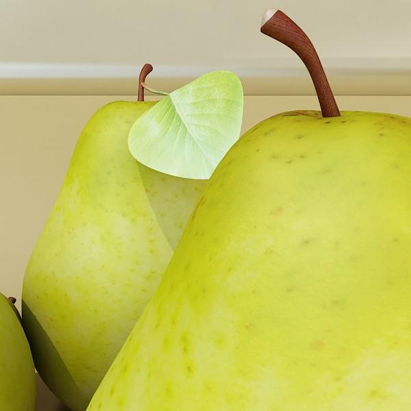 pears in metal basket 3d model max fbx obj 132899