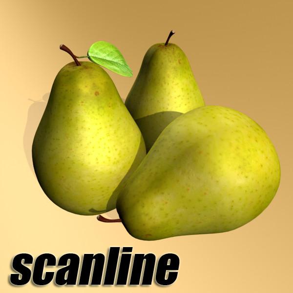 pears in metal basket 3d model max fbx obj 132900