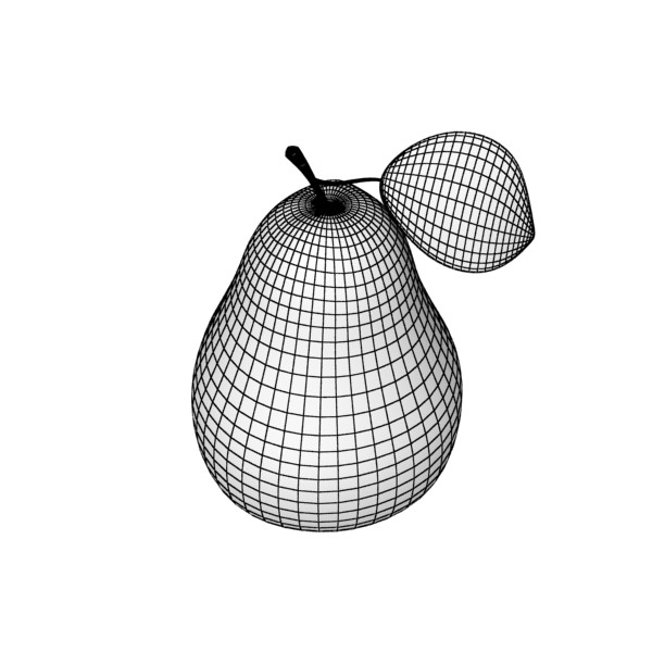 pears in metal basket 3d model max fbx obj 132902