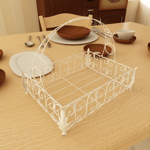 pears in metal basket 3d model max fbx obj 132903