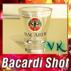 Photoreal Bacardi Rum Shot Glass ( 321.47KB jpg by VKModels )