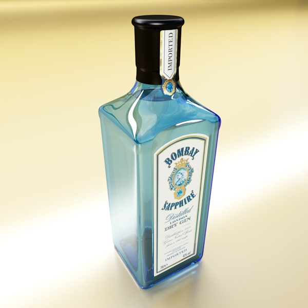 photorealistic and high detailed 7 liquor bottles. 3d model 3ds max fbx obj 140790