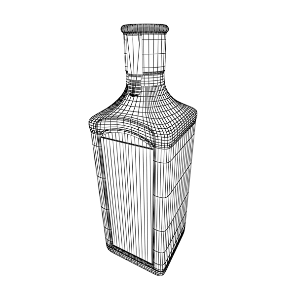 photorealistic and high detailed 7 liquor bottles. 3d model 3ds max fbx obj 140798