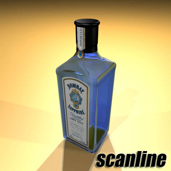 photorealistic and high detailed 7 liquor bottles. 3d model 3ds max fbx obj 140802