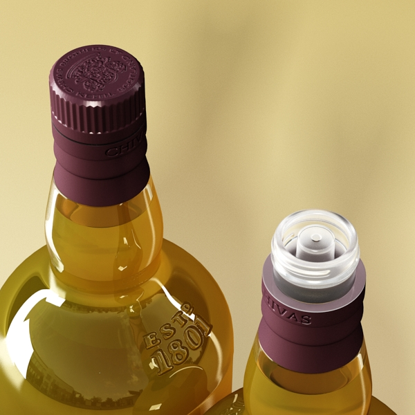 photorealistic and high detailed 7 liquor bottles. 3d model 3ds max fbx obj 140806