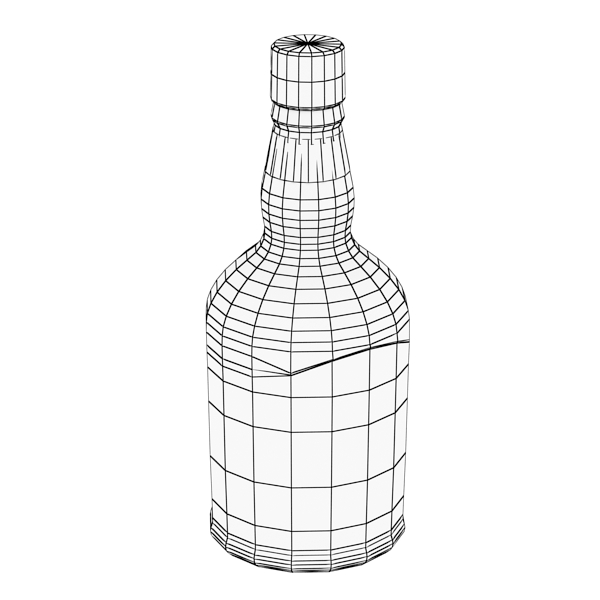 photorealistic and high detailed 7 liquor bottles. 3d model 3ds max fbx obj 140815