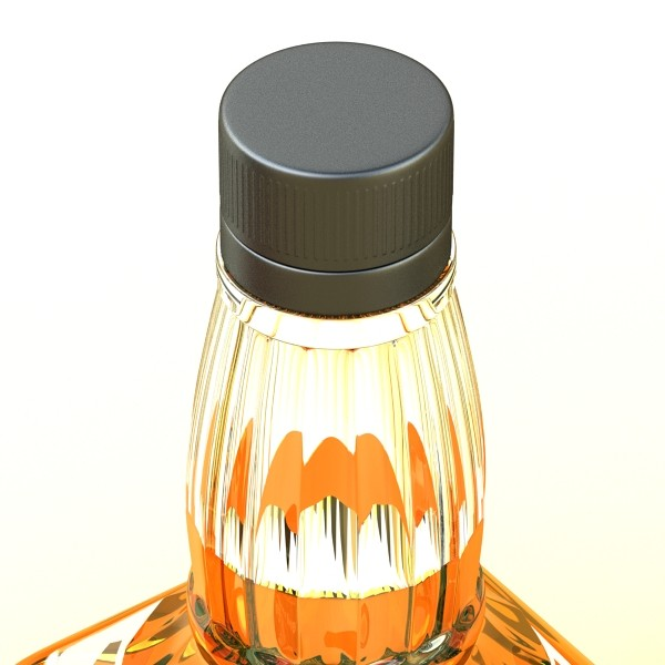 photorealistic and high detailed 7 liquor bottles. 3d model 3ds max fbx obj 140822