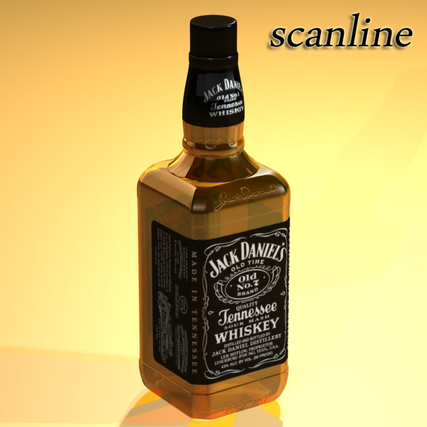 photorealistic and high detailed 7 liquor bottles. 3d model 3ds max fbx obj 140828