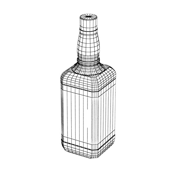 photorealistic and high detailed 7 liquor bottles. 3d model 3ds max fbx obj 140830