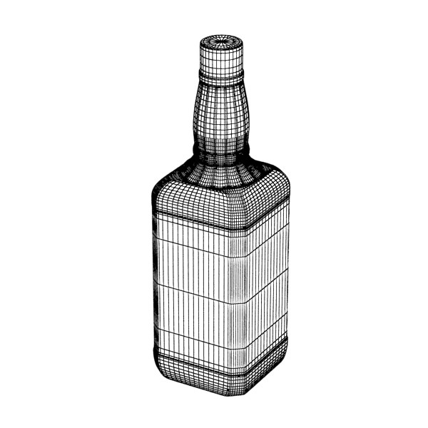 photorealistic and high detailed 7 liquor bottles. 3d model 3ds max fbx obj 140831
