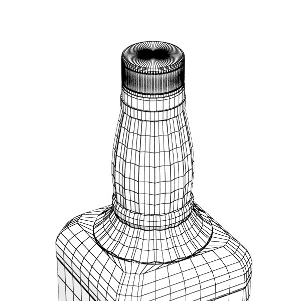 photorealistic and high detailed 7 liquor bottles. 3d model 3ds max fbx obj 140832