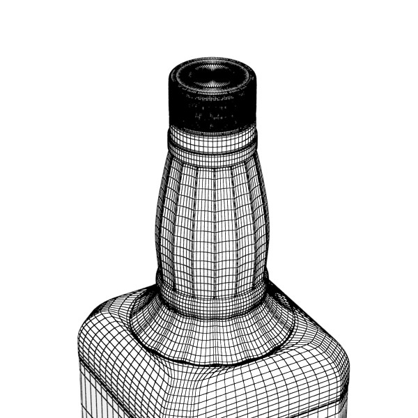 photorealistic and high detailed 7 liquor bottles. 3d model 3ds max fbx obj 140833