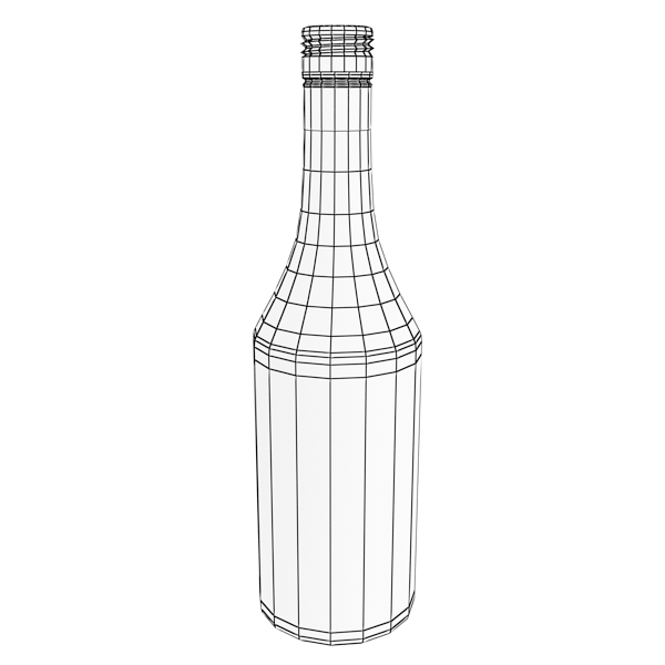 photorealistic and high detailed 7 liquor bottles. 3d model 3ds max fbx obj 140842