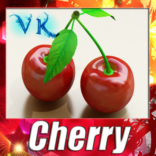 photorealistic cherries high res 3d model 3ds max fbx obj 133214