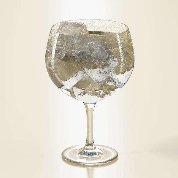 photorealistic glass 03 3d model 3ds max fbx obj 140714