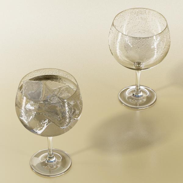 photorealistic glass 03 3d model 3ds max fbx obj 140715