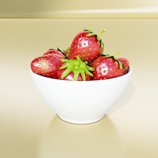 photorealistic strawberries in bowl 3d model 3ds max fbx obj 133190