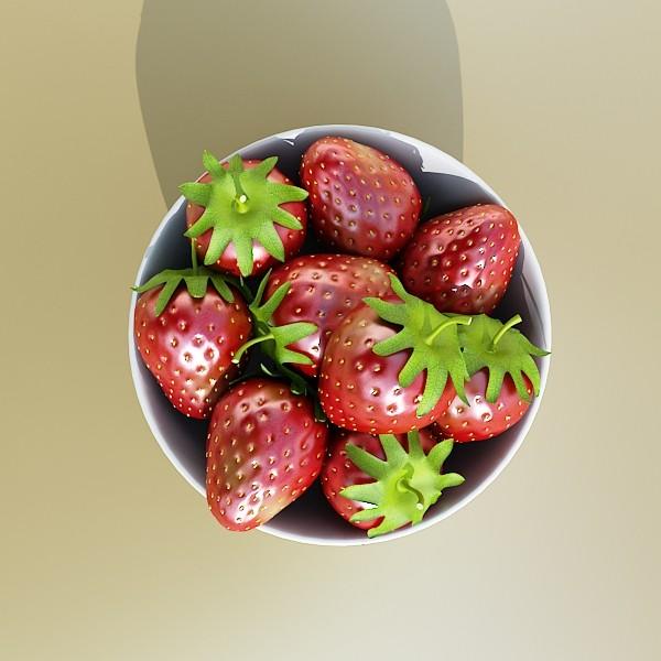 photorealistic strawberries in bowl 3d model 3ds max fbx obj 133193