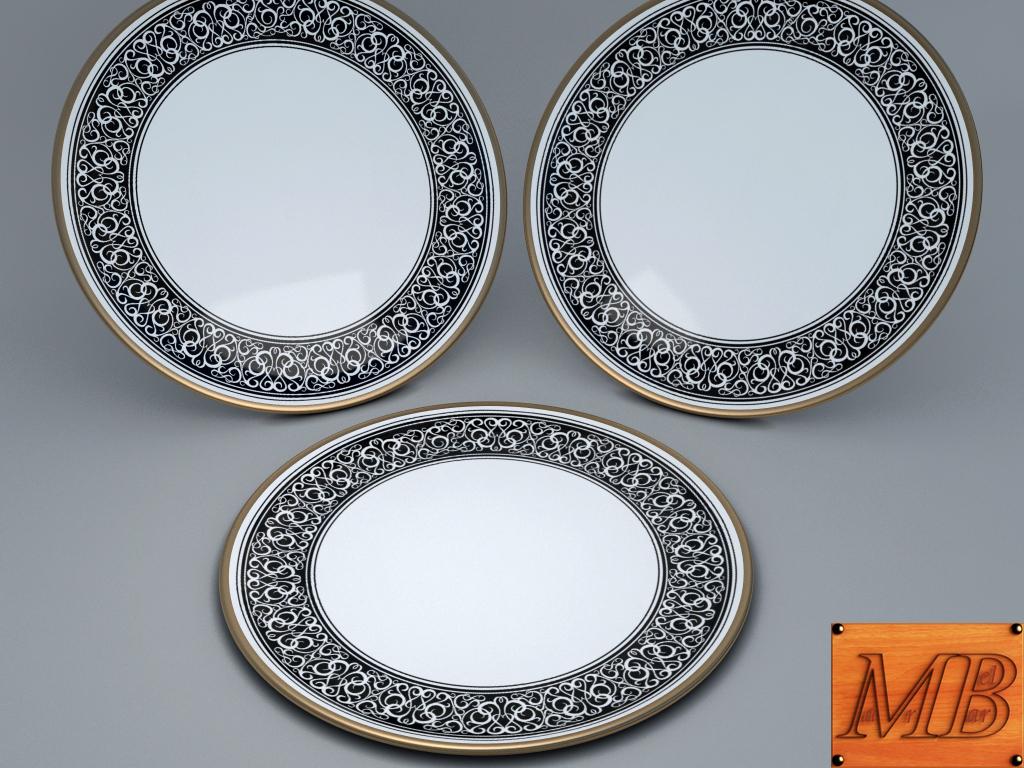 plate 1 3d model 3ds max fbx c4d dae obj 156253