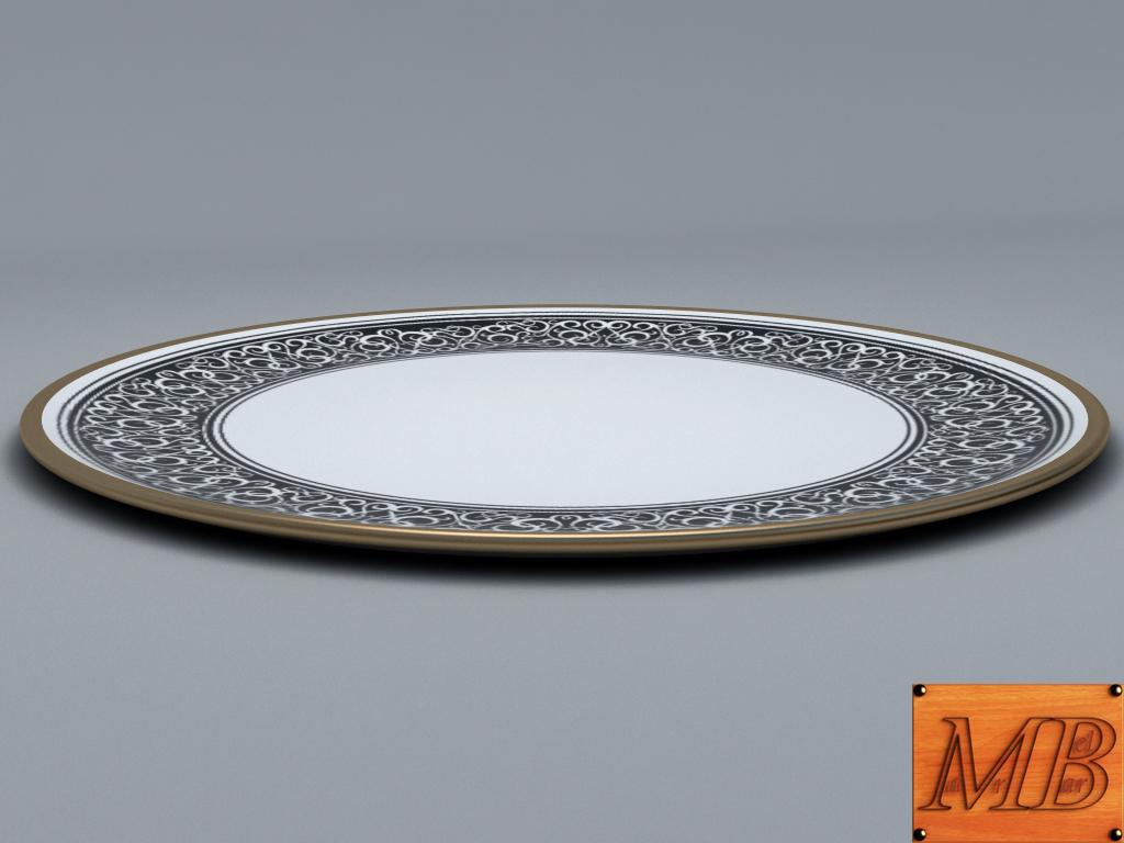 plate 1 3d model 3ds max fbx c4d dae obj 156255
