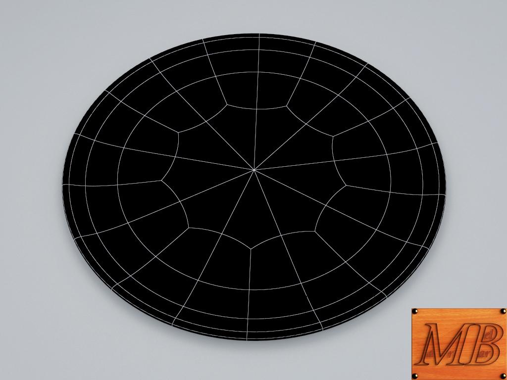 plate 1 3d model 3ds max fbx c4d dae obj 156256