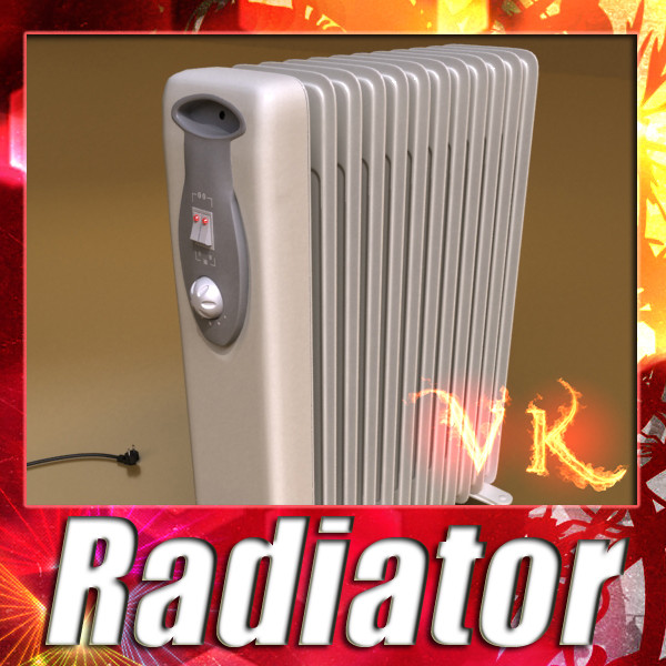 portable radiator high detailed 3d model max fbx obj 131536