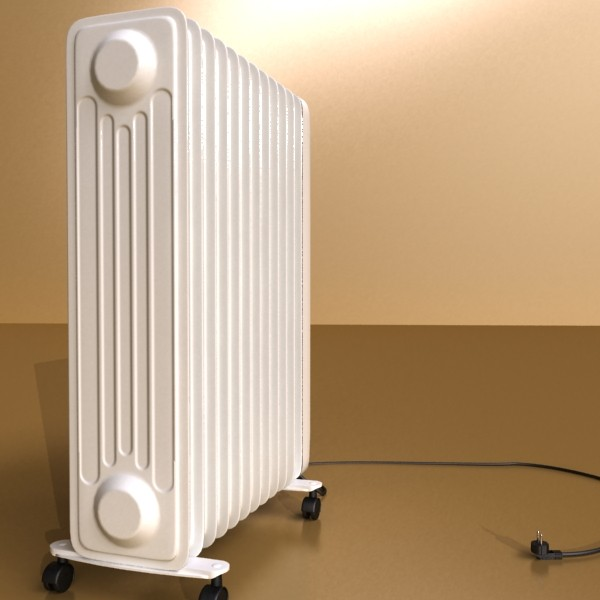 portable radiator high detailed 3d model max fbx obj 131541