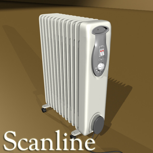 portable radiator high detailed 3d model max fbx obj 131544