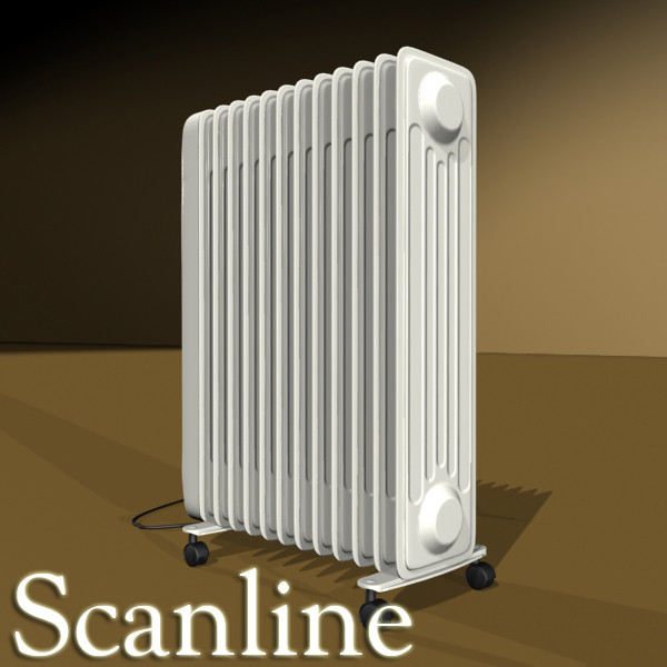 portable radiator high detailed 3d model max fbx obj 131545