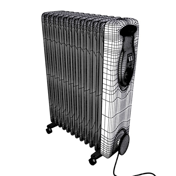 portable radiator high detailed 3d model max fbx obj 131546