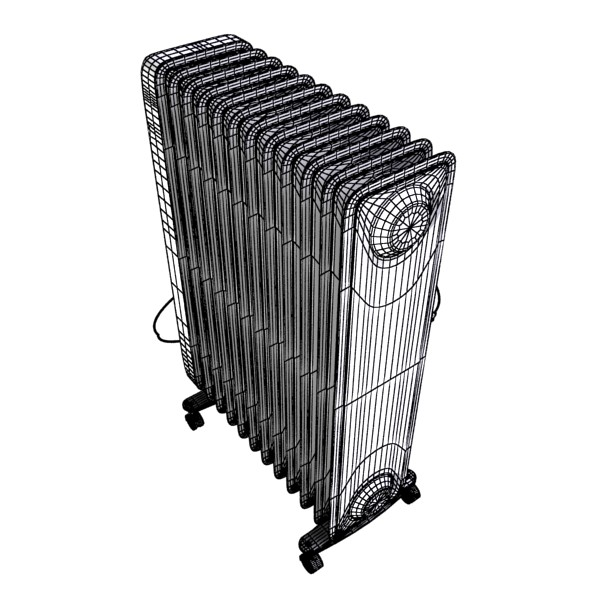 portable radiator high detailed 3d model max fbx obj 131547