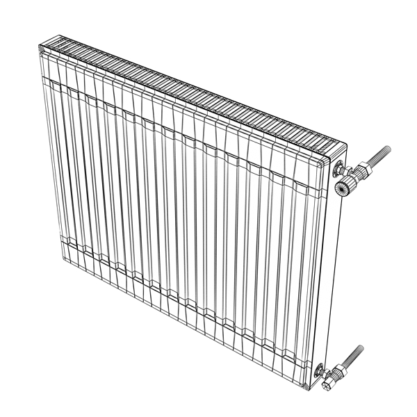radiator 4 3d model 3ds max fbx obj 148452