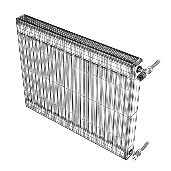 radiator 4 3d model 3ds max fbx obj 148453