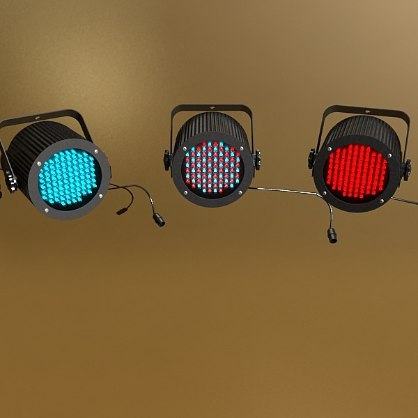 realistic stage lights collection 6 items 3d model max fbx obj 130788