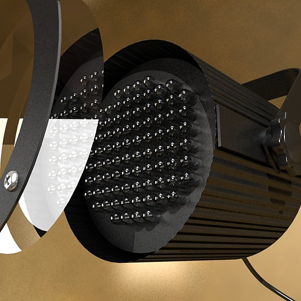 realistic stage lights collection 6 items 3d model max fbx obj 130791
