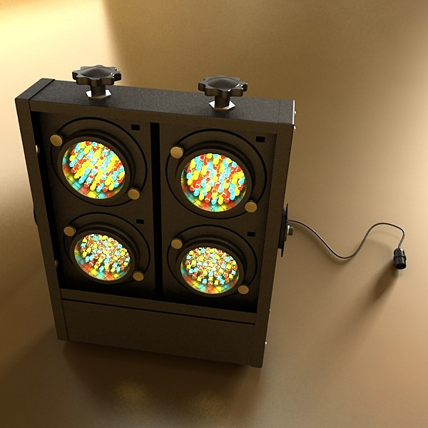 realistic stage lights collection 6 items 3d model max fbx obj 130797