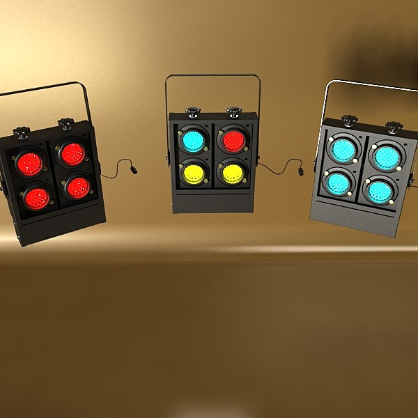 realistic stage lights collection 6 items 3d model max fbx obj 130800